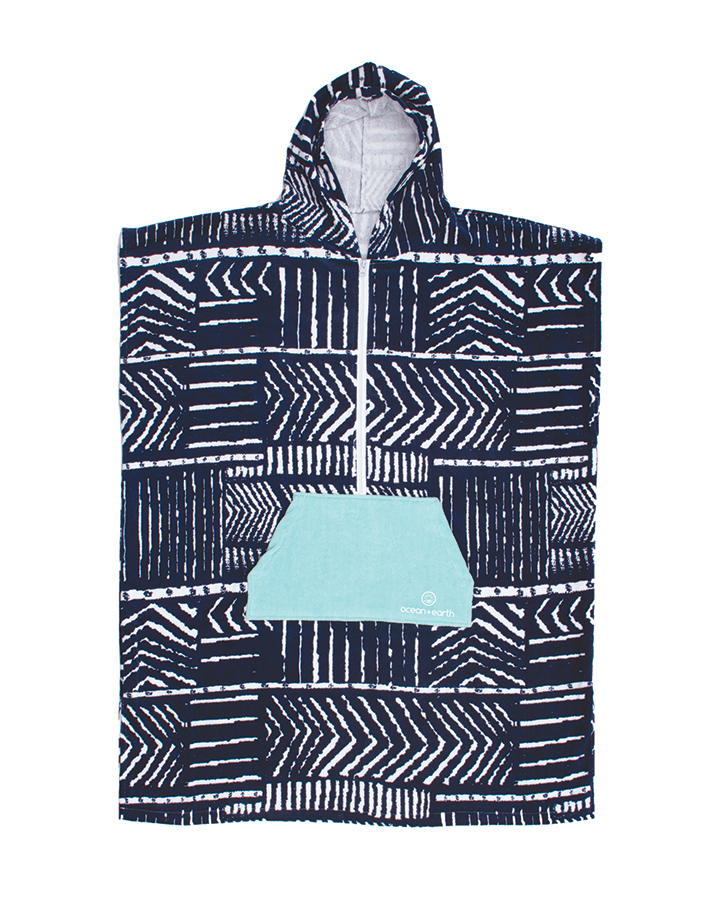 Hooded Ponchos for all sizes - Ocean & Earth